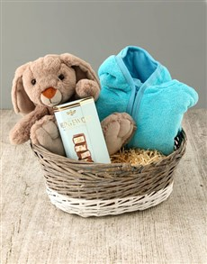 gifts: Baby Basket with Pink Snuggy!