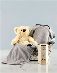 gifts: Grey Clothing Gift Basket!