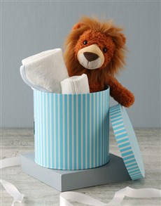 essentials: Lion And Baby Bath Time Hat Box Hamper !