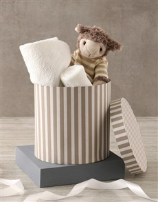 gifts: Sheep And Baby Bath Time Hat Box Hamper !