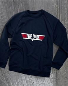gifts: Top Dad Navy Sweatshirt!