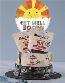 gifts: Get Well Biltong Cake!
