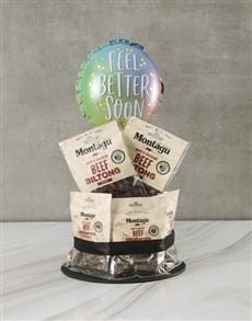 flowers: Get Well Biltong Cake!