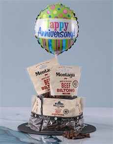gifts: Anniversary Biltong Cake!
