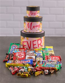 gifts: Best Mom Hat Box Tower!