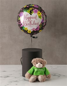 gifts: Happy Birthday Plush Bear and Balloon Box!