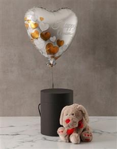 gifts: Anniversary Plush Dog and Balloon Box!