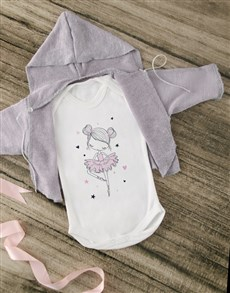 gifts: Cardigan with Ballerina Onesie!