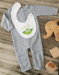 gifts: Sweet Pea Grey Baby Outfit!