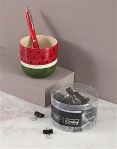 gifts: Watermelon Pen Holder Set!