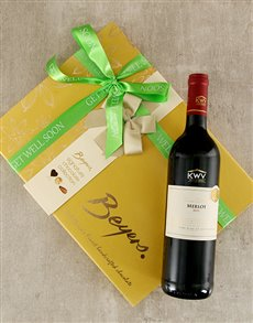 flowers: Get Well Beyers and Merlot Gift!