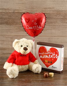 Nuts about you Teddy Gift Set