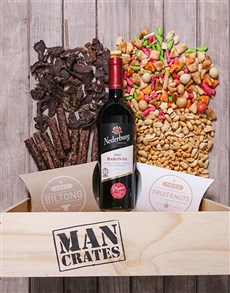 gifts: Red Wine Biltong and Nuts Man Crate!