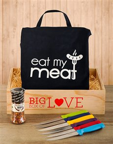 Gifts and Hampers - All Gifts: BBQ Steak Crate!