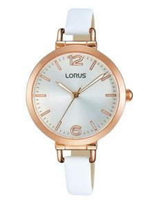 watches: Ladies Rose Lorus Watch with White Leather Strap!