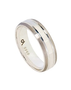 jewellery: Silver Gents 6mm Brushed Edge Ring!