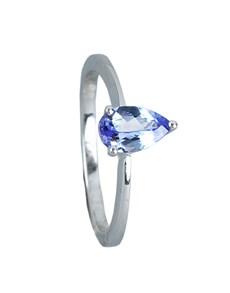 jewellery: Silver Pear Tanzanite Ring 0.75CT!
