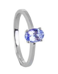 jewellery: Silver Oval Tanzanite Ring 0.65CT!