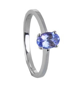 jewellery: Sterling Silver Tanzanite Ring 0.75ct  !