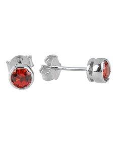 jewellery: Sterling Silver Red Garnet Earrings!