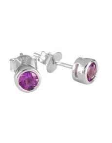 jewellery: Sterling Silver Amethyst Stud Earrings!