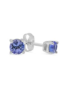 Sterling Silver Claw Tanzanite Studs 0.50ct