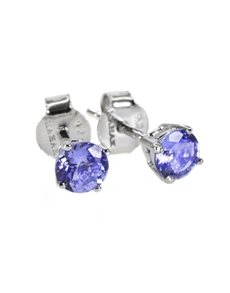 jewellery: Sterling Silver (925) Tanzanite 0.75ct Studs!