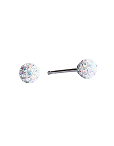 jewellery: Studex Fireball Stainless Steel White Studs !