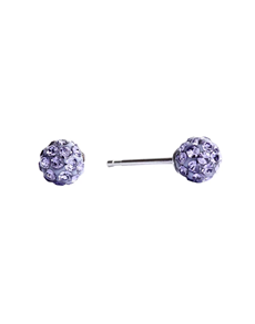 jewellery: Studex Fireball Stainless Steel Purple Studs !