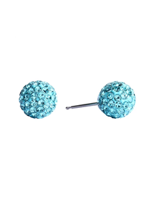 jewellery: Studex Fireball Stainless Steel Blue Studs !
