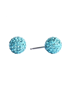 jewellery: Studex Fireball Stainless Steel Tuquoise Studs !