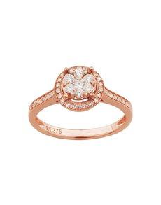 jewellery: 9KT Rose Gold Diamond 0,41ct Ring!