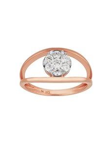 jewellery: 9KT Rose Gold Dimond Ring SB0236!