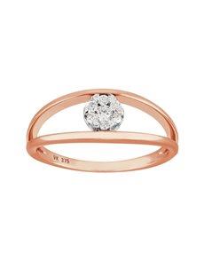 jewellery: 9KT Rose Gold Dimond Ring SB0239!
