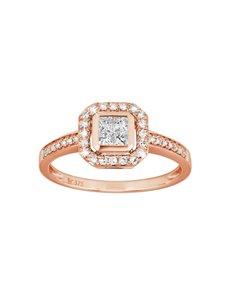 jewellery: 9KT Rose Gold Diamond 0,15ct Ring!