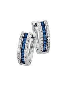 jewellery: 9KT Diamond and Sapphire Earrings!