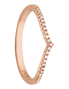 jewellery: 9kt Rose Gold Wishbone Ring!