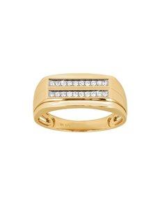 jewellery: 9KT Yellow Gold Diamond Gents Ring SB0505 09!