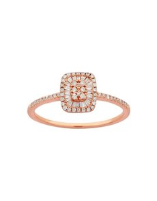 jewellery: 9KT Rose Gold Diamond 0,14ct Ring!