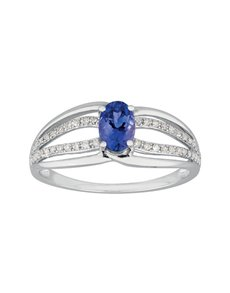jewellery: 9kt Tanzanite and 0,12ct Diamond Ring!