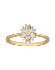 jewellery: 9KT Yellow Gold Diamond Cluster Ring!