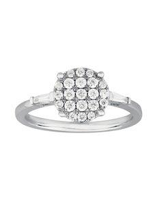 jewellery: 9KT White Gold Round Disk Diamond Ring!