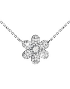 jewellery: 9KT White Gold Pave Flower Diamond Necklace!