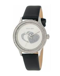 watches: Sissy Boy Glamour Black Leather Watch!