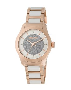 watches: Sissy Boy Elegance White and Rose Gold Watch!