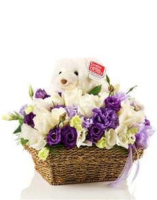 flowers: Gund Bear and Flower Basket!