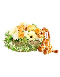 flowers: Fluffy Friend Flower Basket!