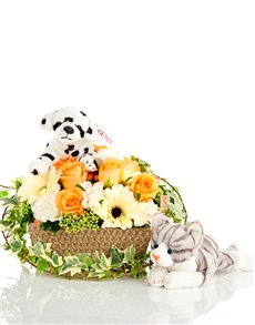 gifts: Loving Friends and Flowers Basket!
