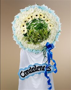 flowers: Funeral Wreath   Heartfelt Condolences!