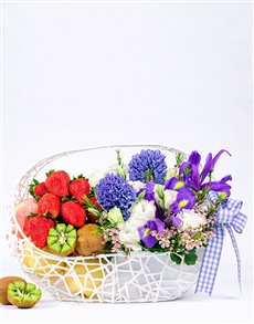 gifts: Fresh Fruit and Flowers Basket!